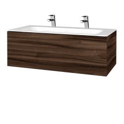 Dřevojas - Koupelnová skříňka VARIANTE SZZ 100 - D06 Ořech / D06 Ořech (269036U)