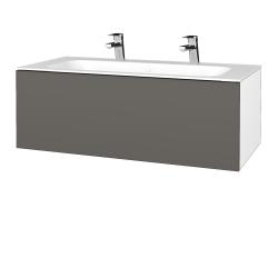 Dřevojas - Koupelnová skříňka VARIANTE SZZ 100 - N01 Bílá lesk / N06 Lava (269364U)