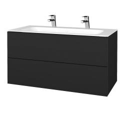 Dřevojas - Koupelnová skříň VARIANTE SZZ2 100 - L03 Antracit vysoký lesk / L03 Antracit vysoký lesk (269609U)
