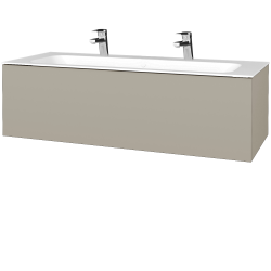 Dřevojas - Koupelnová skříň VARIANTE SZZ 120 - L04 Béžová vysoký lesk / L04 Béžová vysoký lesk (270087U)