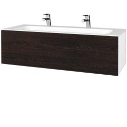 Dřevojas - Koupelnová skříň VARIANTE SZZ 120 - N01 Bílá lesk / D08 Wenge (270186U)