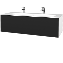 Dřevojas - Koupelnová skříň VARIANTE SZZ 120 - N01 Bílá lesk / N08 Cosmo (270322U)
