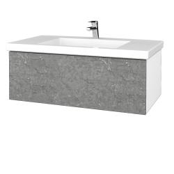 Dřevojas - Koupelnová skříňka VARIANTE SZZ 100 - N01 Bílá lesk / D20 Galaxy (275068)