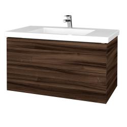 Dřevojas - Koupelnová skříňka VARIANTE SZZ2 100 - D06 Ořech / D06 Ořech (275136)