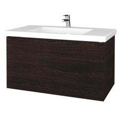 Dřevojas - Koupelnová skříňka VARIANTE SZZ2 100 - D08 Wenge / D08 Wenge (275143)