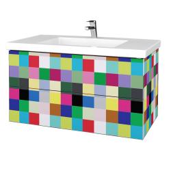 Dřevojas - Koupelnová skříňka VARIANTE SZZ2 100 - IND Individual / IND Individual (275228)