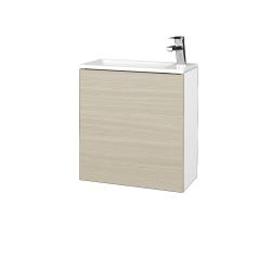 Dřevojas - Koupelnová skříň VARIANTE SZD 50 - N01 Bílá lesk / D04 Dub / Levé (327927)