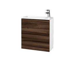 Dřevojas - Koupelnová skříň VARIANTE SZD 50 - N01 Bílá lesk / D06 Ořech / Levé (327941)