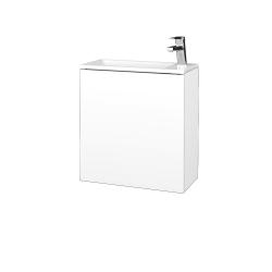 Dřevojas - Koupelnová skříň VARIANTE SZD 50 - N01 Bílá lesk / L01 Bílá vysoký lesk / Levé (328108)
