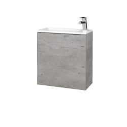 Dřevojas - Koupelnová skříň VARIANTE SZD 50 - D01 Beton / D01 Beton / Pravé (339067P)
