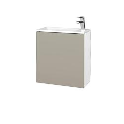 Dřevojas - Koupelnová skříň VARIANTE SZD 50 - N01 Bílá lesk / M05 Béžová mat / Pravé (339395P)