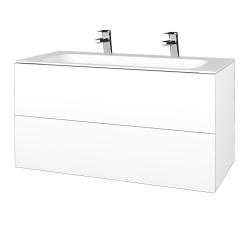 Dřevojas - Koupelnová skříň VARIANTE SZZ2 100 - M01 Bílá mat / M01 Bílá mat (269579U)