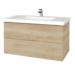 Dřevojas - Koupelnová skříňka VARIANTE SZZ2 100 - D15 Nebraska / D15 Nebraska (275174)