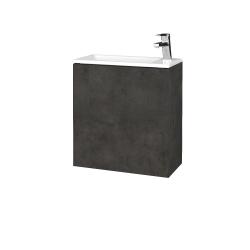 Dřevojas - Koupelnová skříň VARIANTE SZD 50 - D16  Beton tmavý / D16 Beton tmavý / Pravé (339166P)