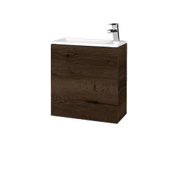 Dřevojas - Koupelnová skříň VARIANTE SZD 50 - D21 Tobacco / D21 Tobacco / Pravé (339500P)