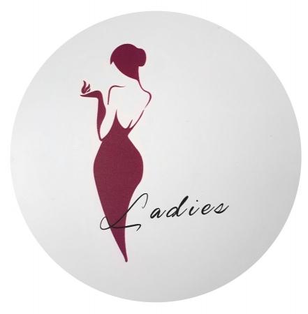 AQUALINE - WC dámy označení, průměr 170mm, ABS (SB301)