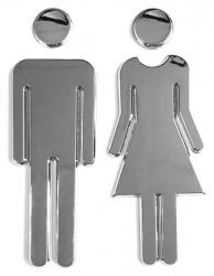 WC označení dámy/páni, pár, ABS/chrom (SB302) - AQUALINE