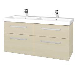 Dřevojas - Koupelnová skříň Q MAX SZZ4 120 - D02 Bříza / Úchytka T01 / D02 Bříza (332150A)