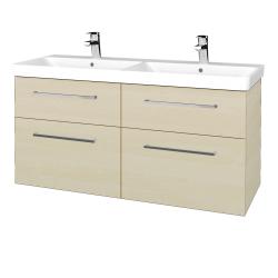 Dřevojas - Koupelnová skříň Q MAX SZZ4 120 - D02 Bříza / Úchytka T04 / D02 Bříza (332150E)