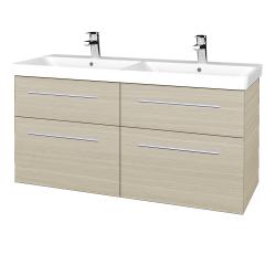 Dřevojas - Koupelnová skříň Q MAX SZZ4 120 - D04 Dub / Úchytka T02 / D04 Dub (332174B)