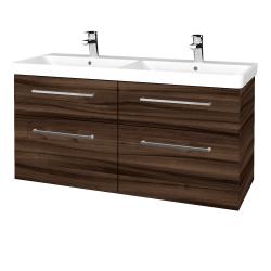 Dřevojas - Koupelnová skříň Q MAX SZZ4 120 - D06 Ořech / Úchytka T04 / D06 Ořech (332198E)