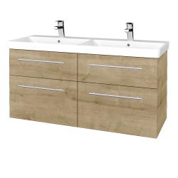 Dřevojas - Koupelnová skříň Q MAX SZZ4 120 - D09 Arlington / Úchytka T02 / D09 Arlington (332211B)