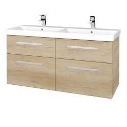 Dřevojas - Koupelnová skříň Q MAX SZZ4 120 - D15 Nebraska / Úchytka T01 / D15 Nebraska (332235A)
