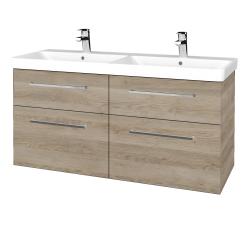 Dřevojas - Koupelnová skříň Q MAX SZZ4 120 - D17 Colorado / Úchytka T04 / D17 Colorado (332259E)