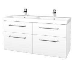 Dřevojas - Koupelnová skříň Q MAX SZZ4 120 - M01 Bílá mat / Úchytka T03 / M01 Bílá mat (332266C)