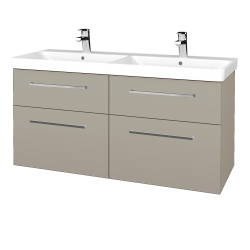 Dřevojas - Koupelnová skříň Q MAX SZZ4 120 - M05 Béžová mat / Úchytka T04 / M05 Béžová mat (332273E)