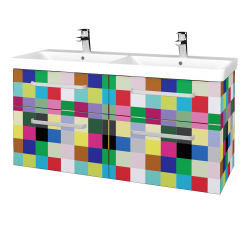 Dřevojas - Koupelnová skříň Q MAX SZZ4 120 - IND Individual / Úchytka T01 / IND Individual (332280A)