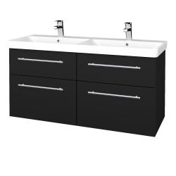 Dřevojas - Koupelnová skříň Q MAX SZZ4 120 - N08 Cosmo / Úchytka T02 / N08 Cosmo (332341B)