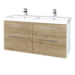 Dřevojas - Koupelnová skříň Q MAX SZZ4 120 - N01 Bílá lesk / Úchytka T04 / D09 Arlington (332419E)