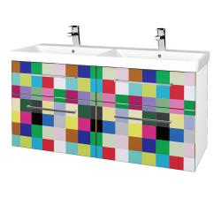 Dřevojas - Koupelnová skříň Q MAX SZZ4 120 - N01 Bílá lesk / Úchytka T04 / IND Individual (332488E)
