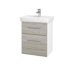 Dřevojas - Koupelnová skříň GO SZZ2 50 - N01 Bílá lesk / Úchytka T01 / D05 Oregon (27974A)