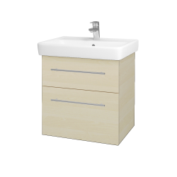 Dřevojas - Koupelnová skříň Q MAX SZZ2 60 - D02 Bříza / Úchytka T02 / D02 Bříza (60285B)