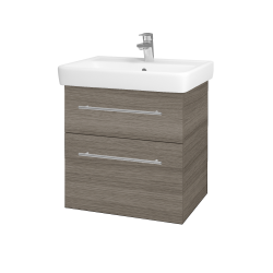 Dřevojas - Koupelnová skříň Q MAX SZZ2 60 - D03 Cafe / Úchytka T02 / D03 Cafe (68441B)