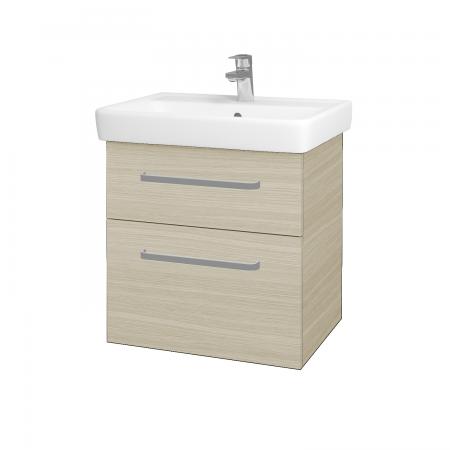 Dřevojas - Koupelnová skříň Q MAX SZZ2 60 - D04 Dub / Úchytka T01 / D04 Dub (60346A)