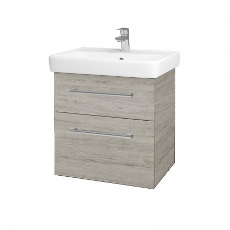 Dřevojas - Koupelnová skříň Q MAX SZZ2 60 - D05 Oregon / Úchytka T03 / D05 Oregon (61312C)