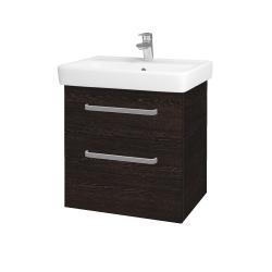Dřevojas - Koupelnová skříň Q MAX SZZ2 60 - D08 Wenge / Úchytka T01 / D08 Wenge (60292A)