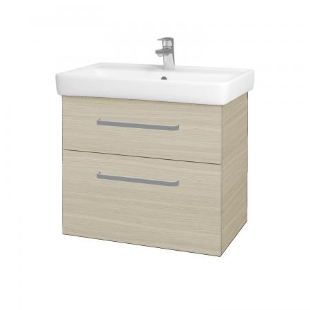 Dřevojas - Koupelnová skříň Q MAX SZZ2 70 - D04 Dub / Úchytka T01 / D04 Dub (60407A)