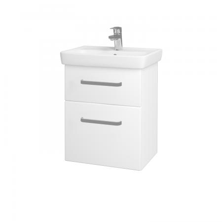 Dřevojas - Koupelnová skříň GO SZZ2 50 - N01 Bílá lesk / Úchytka T01 / L01 Bílá vysoký lesk (20685A)