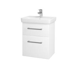 Dřevojas - Koupelnová skříň GO SZZ2 50 - N01 Bílá lesk / Úchytka T03 / L01 Bílá vysoký lesk (20685C)