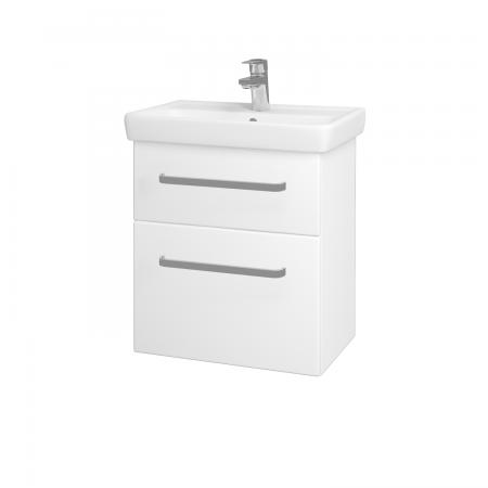 Dřevojas - Koupelnová skříň GO SZZ2 55 - N01 Bílá lesk / Úchytka T01 / L01 Bílá vysoký lesk (20722A)