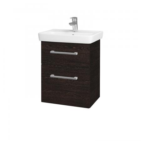 Dřevojas - Koupelnová skříň GO SZZ2 50 - D08 Wenge / Úchytka T03 / D08 Wenge (28186C)