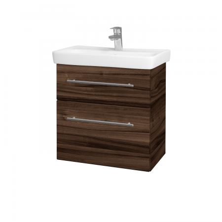 Dřevojas - Koupelnová skříň GO SZZ2 60 - D06 Ořech / Úchytka T02 / D06 Ořech (29787B)