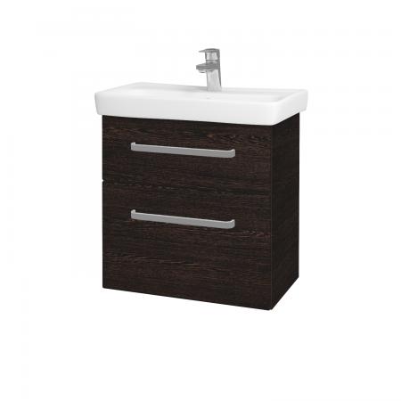 Dřevojas - Koupelnová skříň GO SZZ2 60 - D08 Wenge / Úchytka T01 / D08 Wenge (28209A)