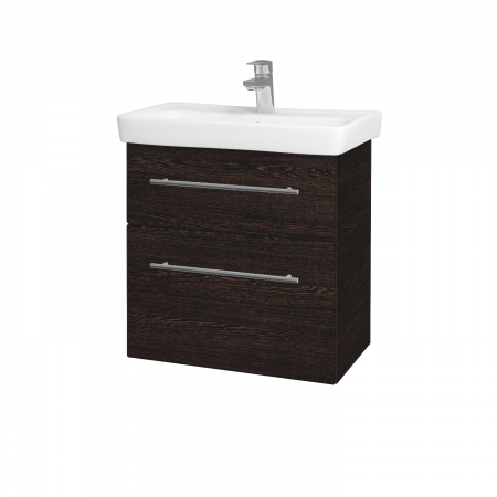 Dřevojas - Koupelnová skříň GO SZZ2 60 - D08 Wenge / Úchytka T02 / D08 Wenge (28209B)