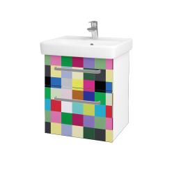 Dřevojas - Koupelnová skříň Q MAX SZZ2 55 - N01 Bílá lesk / Úchytka T01 / IND Individual (61541A)