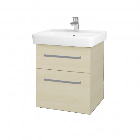 Dřevojas - Koupelnová skříň Q MAX SZZ2 55 - D02 Bříza / Úchytka T01 / D02 Bříza (61152A)